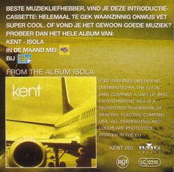 Dutch pressing of Excerpts from the album Isola promo cassette
