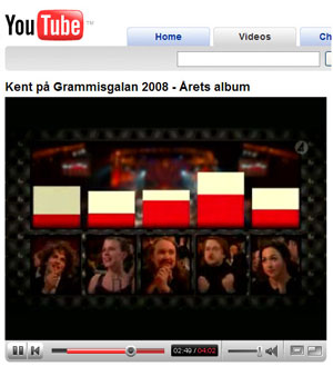 Kent wins Album of the year at the 2008 Grammis gala