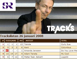 columbus to no. 2 in the Tracks chart show january 26 2008